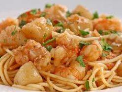 Seared Shrimp, Muscles & Scallop Pasta w/Lemon Chardonnay Butter Sauce
