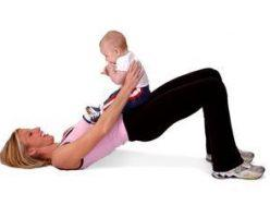 For new moms, how can I help them balance their fitness regime and their children? Are there a few exercises they can do while with their kids?