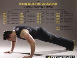 The 60 Staggered Push-up Challenge to Enhance Your Body in 30 Days