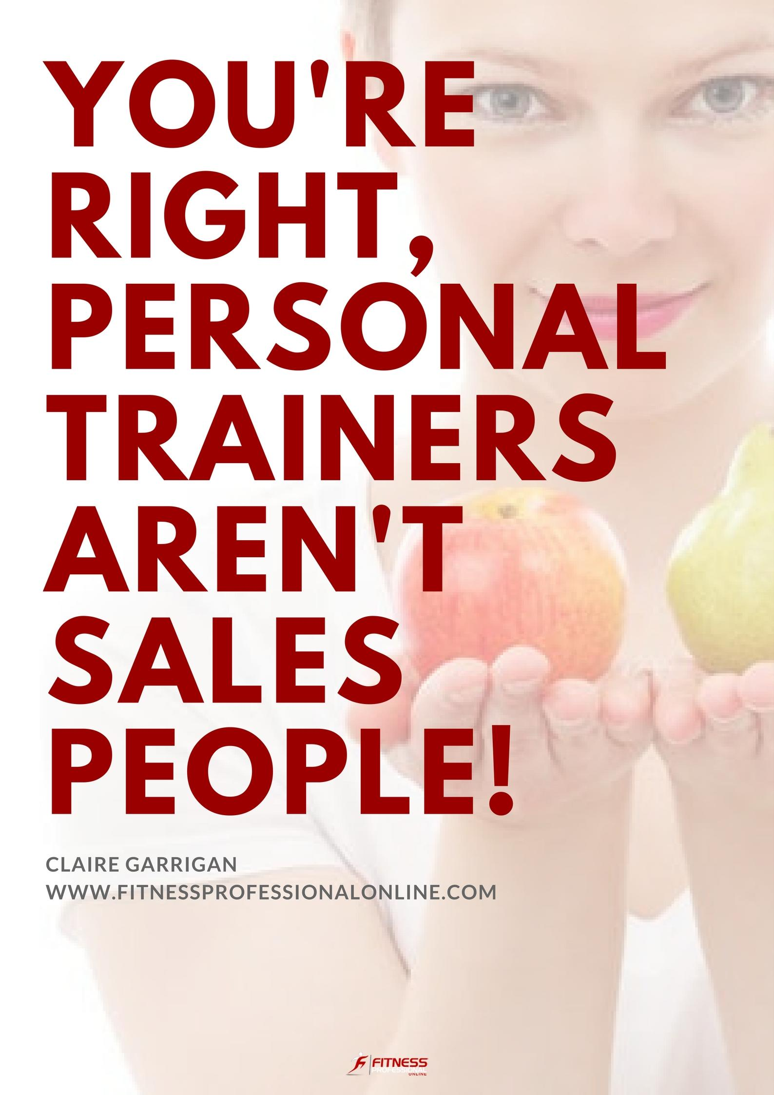 Have a look at the top reasons why personal trainers aren't salespeople and what can be done about it to create the perfect balance between the two titles.