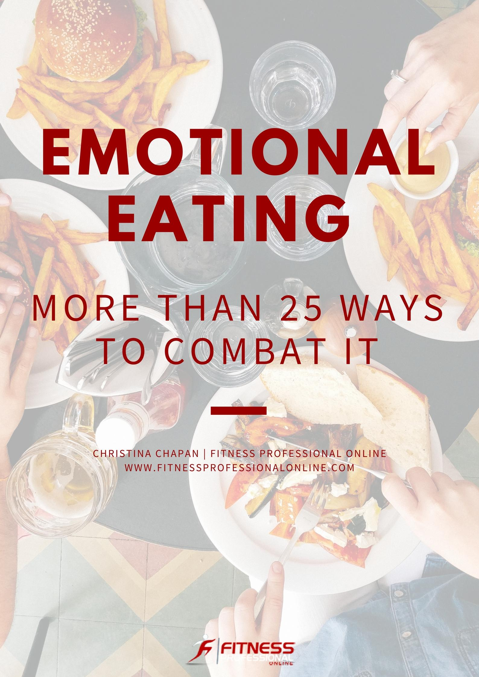 Some ways to deal with emotional eating.