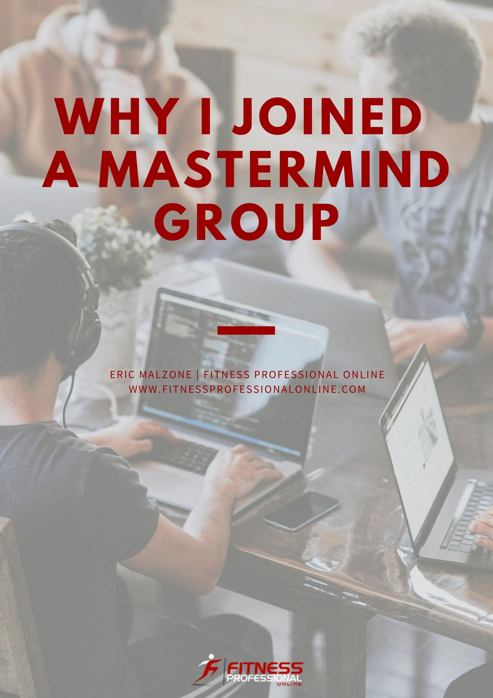 Do you have experiences you'd like to share with mastermind groups? We'd like to hear from you.