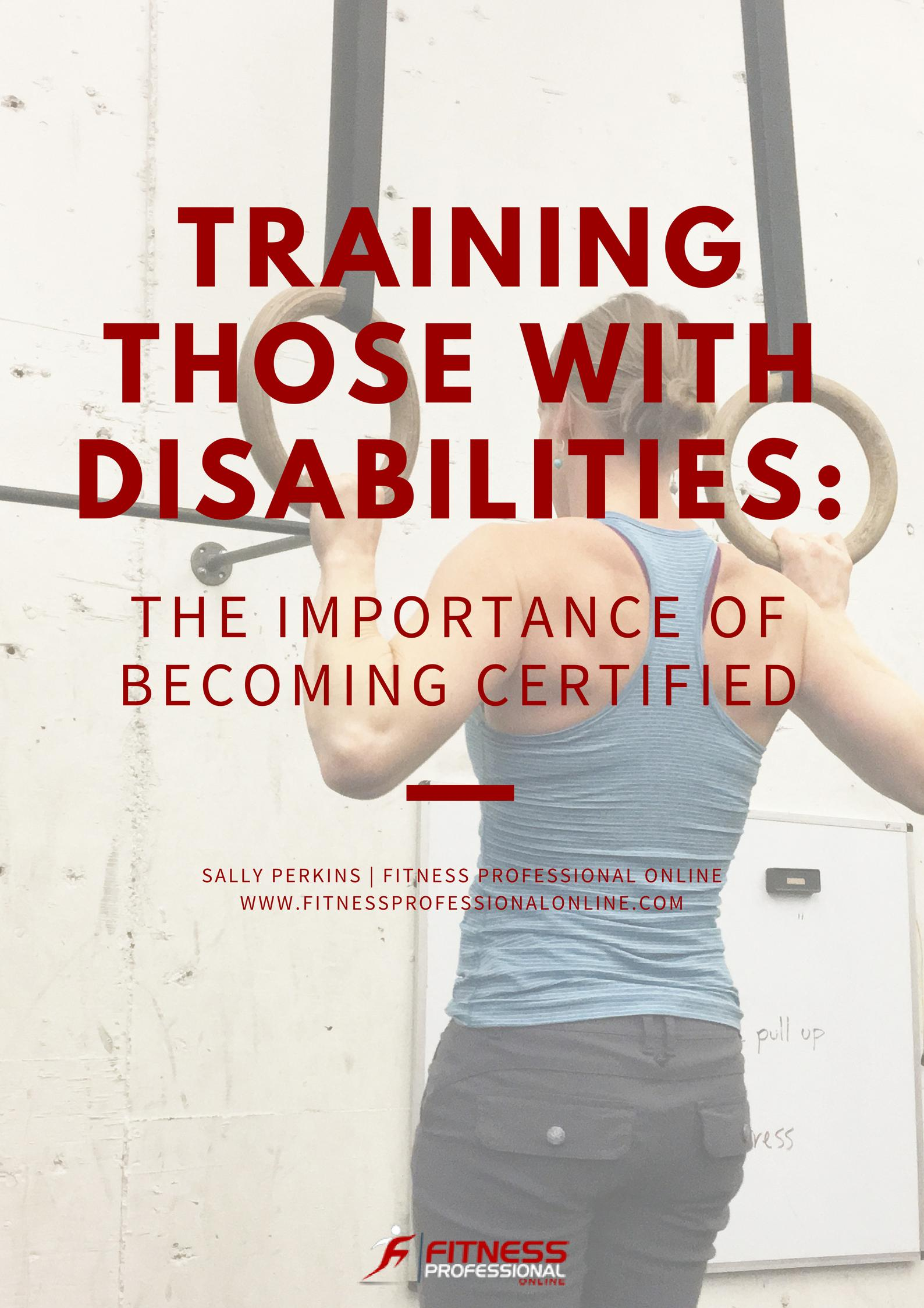 Everyone is in need of physical activity for favorable health, including people with disabilities.