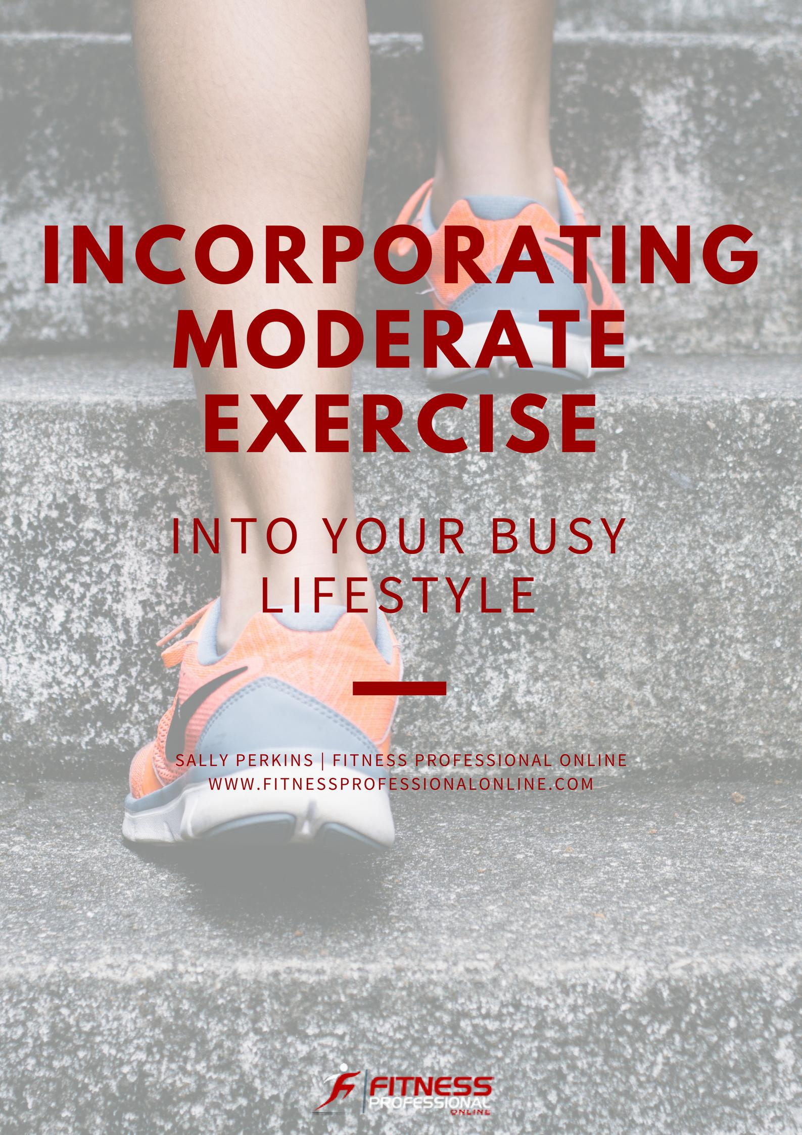 The following recommendations will help you to encourage your clients to incorporate exercise into their busy lifestyles at a gentle pace.